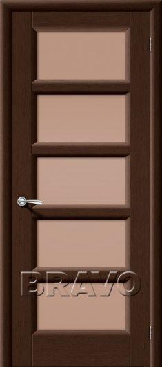 Изображение Межкомнатная дверь шпон файн-лайн Премьера-5 (Венге) остекленная