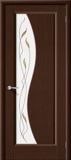 Изображение Межкомнатная дверь шпон файн-лайн Vi LARIO Руссо Ф-09 (Венге) остекленная