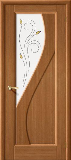 Изображение Межкомнатная дверь шпон файн-лайн  Vi LARIO Сандро Ф-11 (Орех) остекленная