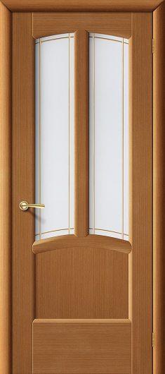 Изображение Межкомнатная дверь шпон файн-лайн  Vi LARIO Ветразь Ф-11 (Орех) остекленная