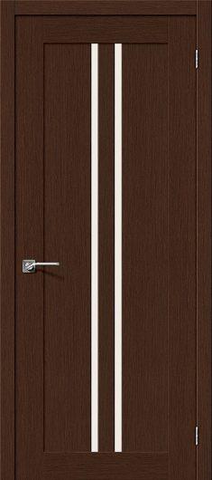 Изображение Межкомнатная дверь шпон файн-лайн Евро-14 (Венге) глухая