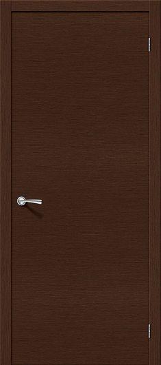 Изображение Межкомнатная дверь шпон файн-лайн Евро Г-0 (Венге) глухая