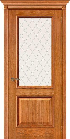 Изображение Межкомнатная шпонированная дверь Белорусские двери Шервуд Д-10 (Золотой Дуб) остекленная