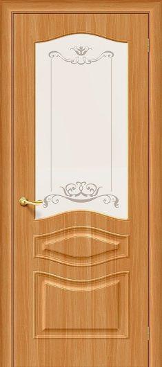 Изображение Межкомнатная дверь с ПВХ-пленкой Браво Модена П-18 (МиланОрех) остекленная
