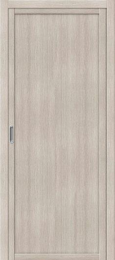 Изображение Межкомнатная дверь с эко шпоном el`PORTA Твигги M1 Cappuccino Veralinga глухая