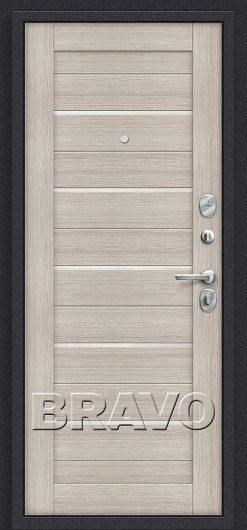 Изображение Входная дверь Браво Прайм П-28 (Темная Вишня)/Cappuccino Veralinga остекленная