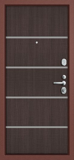 Изображение Входная дверь Т2-204 Антик Медь/Wenge Crosscut глухая