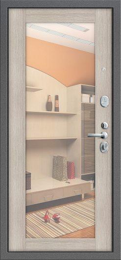 Изображение Входная дверь T2-220 Антик Серебро/Cappuccino Veralinga глухая