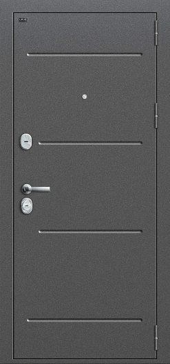 Изображение Входная дверь Т2-221 Антик Серебро/Cappuccino Veralinga глухая