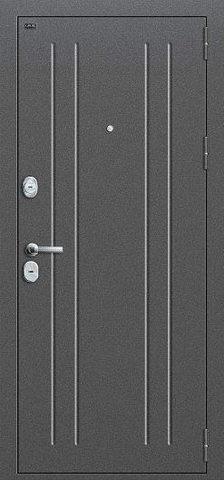 Изображение Входная дверь GROFF T2-232 Антик Серебро/Milk Oak глухая