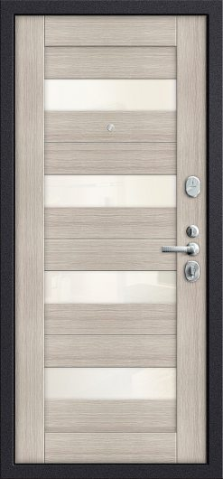 Изображение Входная дверь T3-223 П-28 (Темная Вишня)/Cappuccino Veralinga остекленная