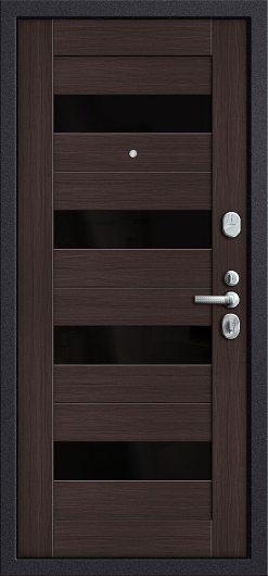 Изображение Входная дверь T3-223 П-28 (Темная Вишня)/Wenge Veralinga остекленная