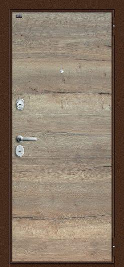Изображение Входная дверь GROFF Т3-300 Tobacco Oak/Natural Oak глухая