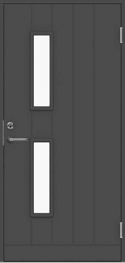 Изображение Входная дверь Jeld-Wen модель Basic B0028 светло-серая