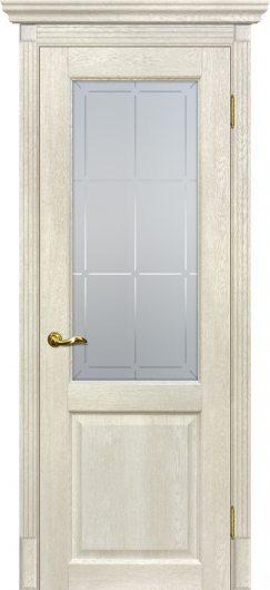 Изображение Межкомнатная дверь с эко шпоном Тоскана - 1 Бьянко остекленная