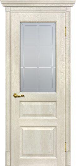 Изображение Межкомнатная дверь с эко шпоном Тоскана - 2 Бьянко остекленная
