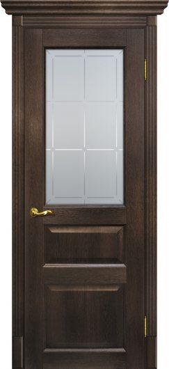 Изображение Межкомнатная дверь с эко шпоном Тоскана - 2 Фреско остекленная