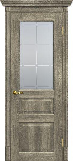 Изображение Межкомнатная дверь с эко шпоном Тоскана - 2 Гриджио остекленная