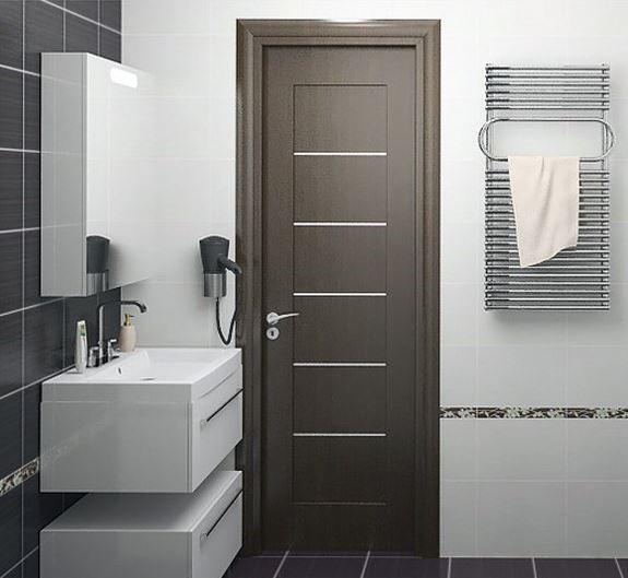 Распашные двери для ванной