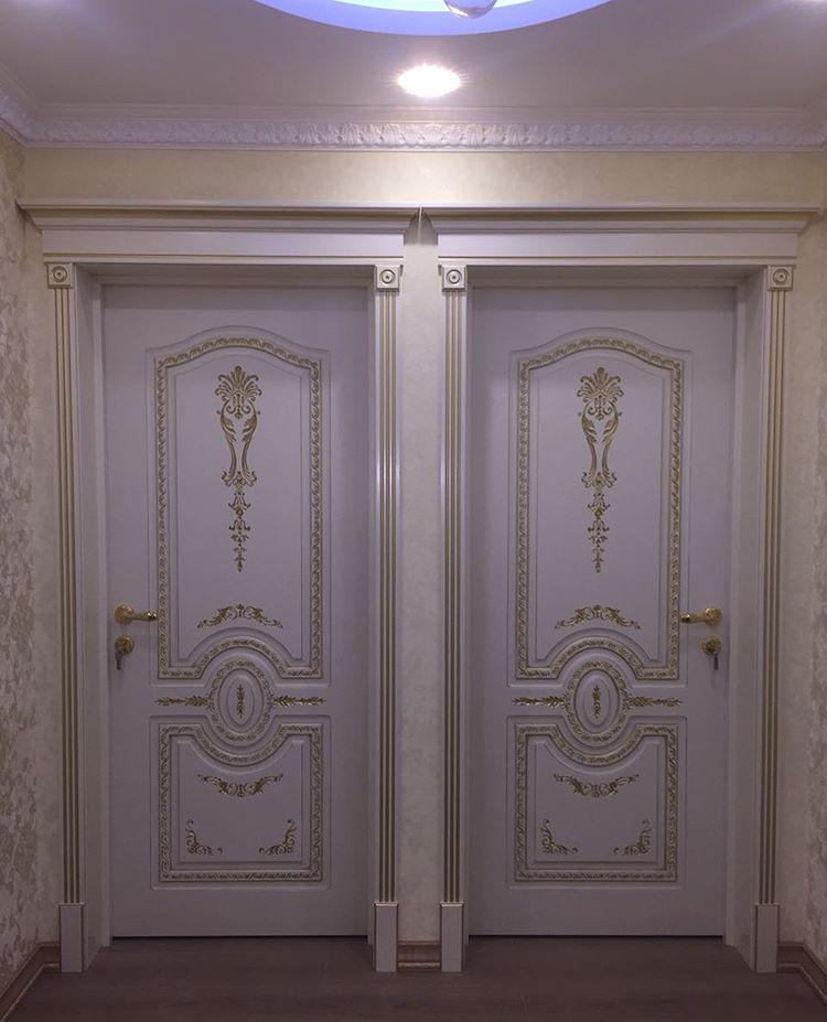 Белые эмалированные двери
